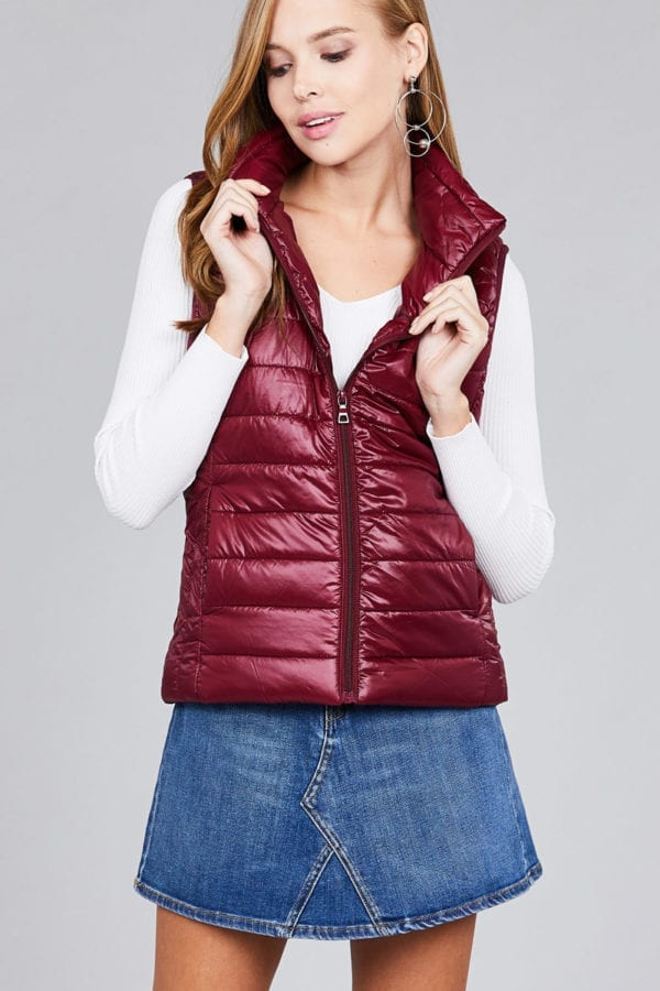 Quilted Padding Vest (Plus)
