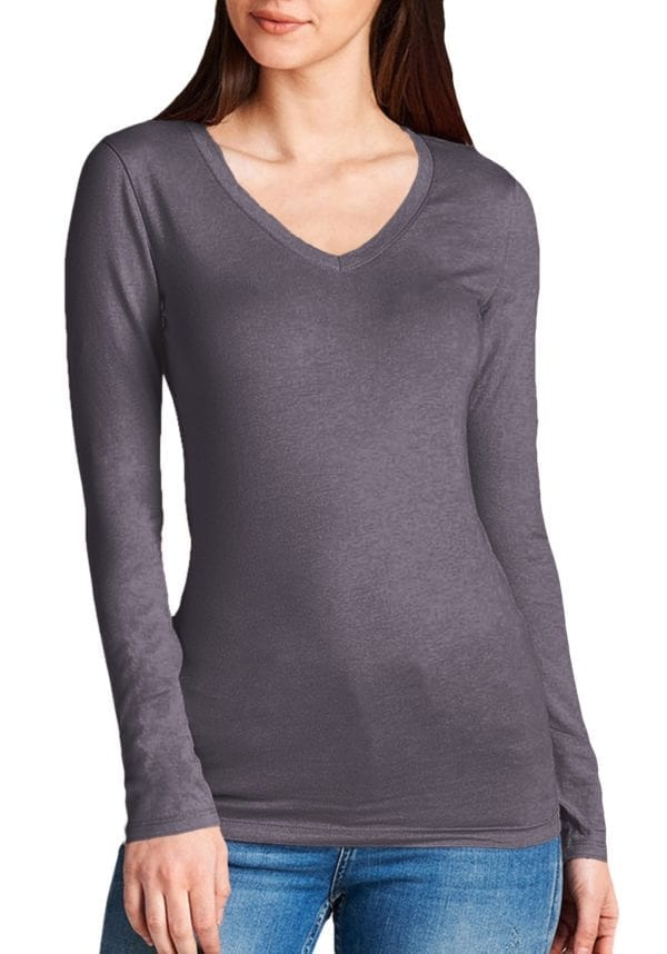 Basic Long Sleeve V-Neck Tee
