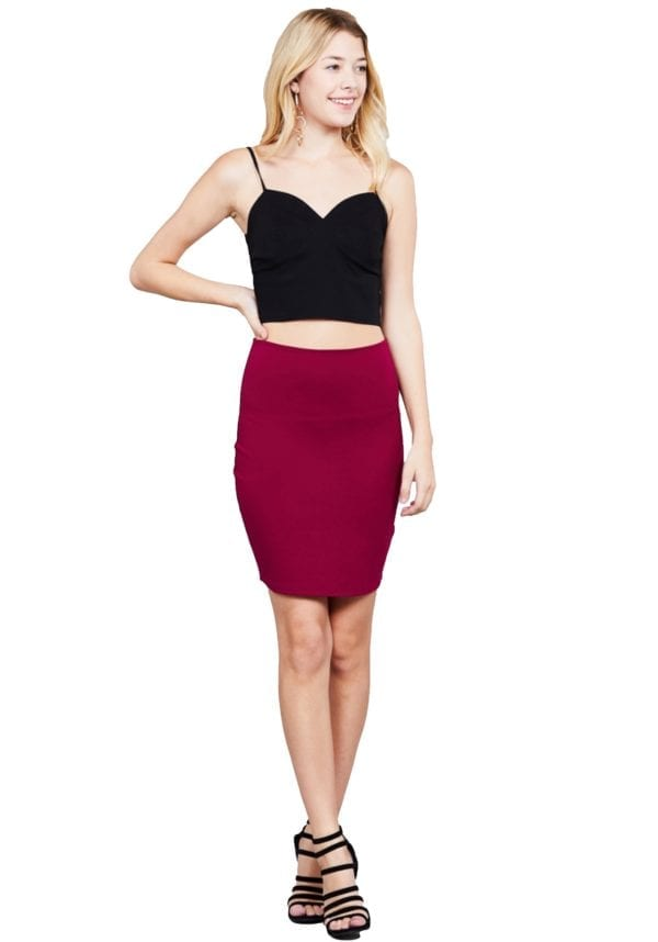 Fitted Mini Ponte Skirt