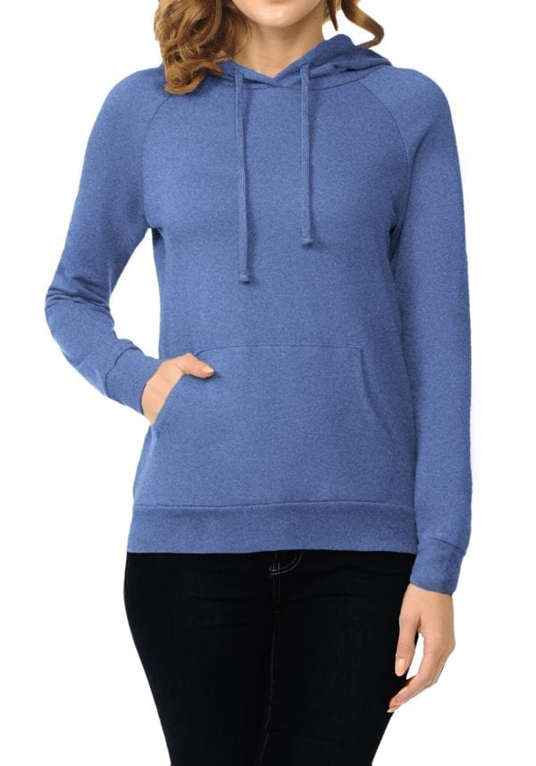 French Terry Hoodie Top w/ Kangaroo Pocket (Plus)