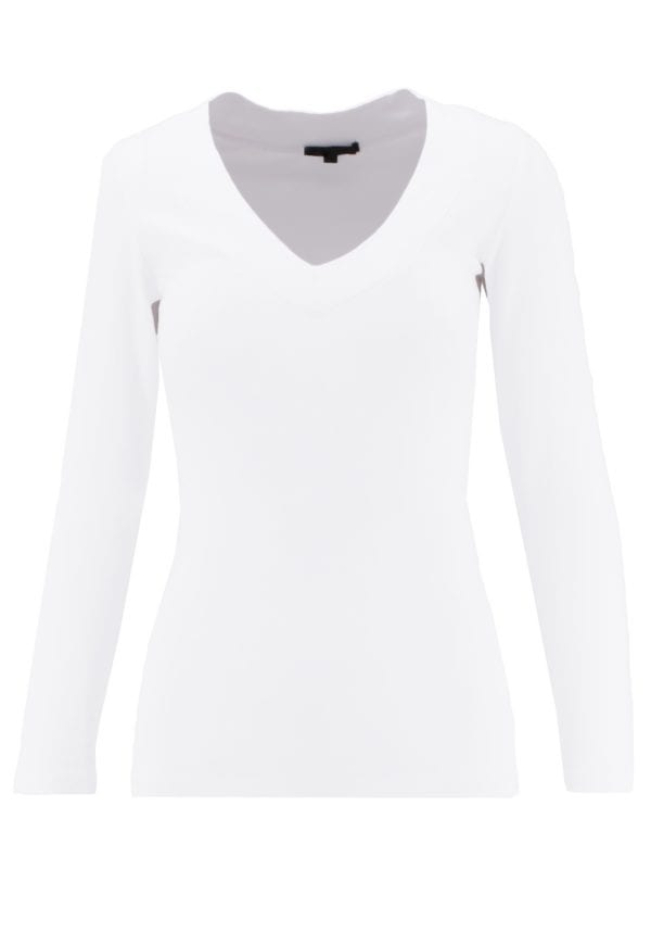 V-Neck Long Sleeve Basic Top (Variety Pack)