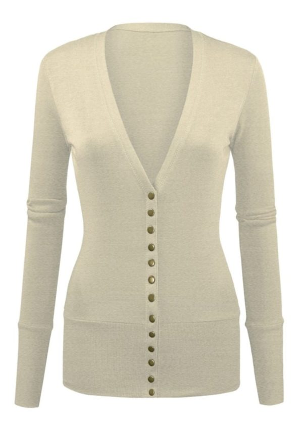 Long Sleeve Snap Button Cardigan