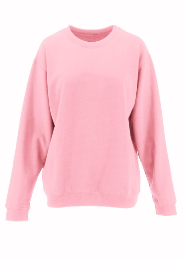 Long Sleeve Round Neck Sweatshirt w/ Side Pockets (Plus)