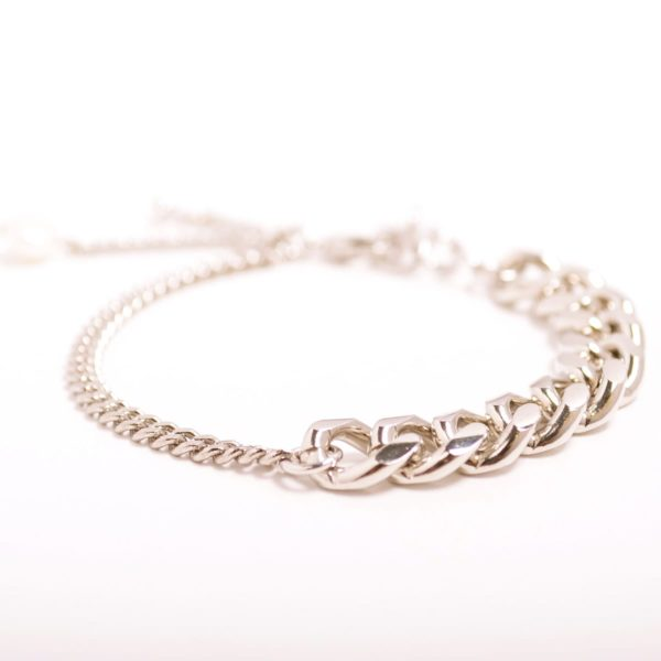 Pearl Crystal Layered Chain Bracelet