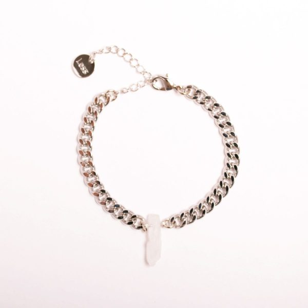 White Quartz Chip Bracelet