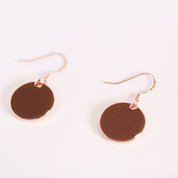 Rose Gold Coin Earring