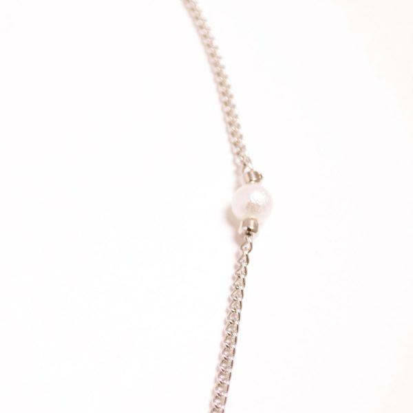 Pearled Square Tunnel Necklace
