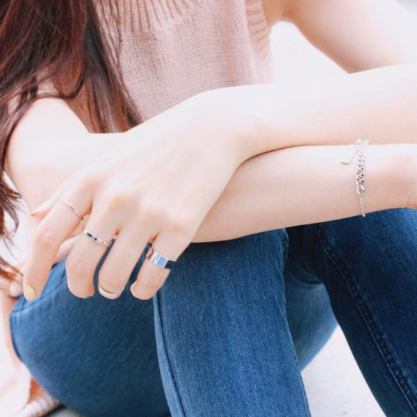 Layered Ring With Chain Necklace