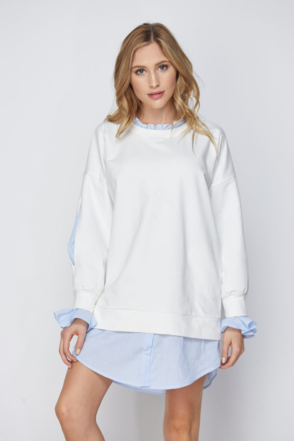Twofer Tunic with Ruffle