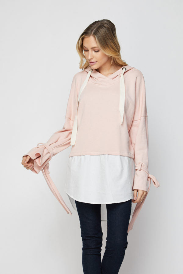 Twofer Hoodie with Shirts-Tale