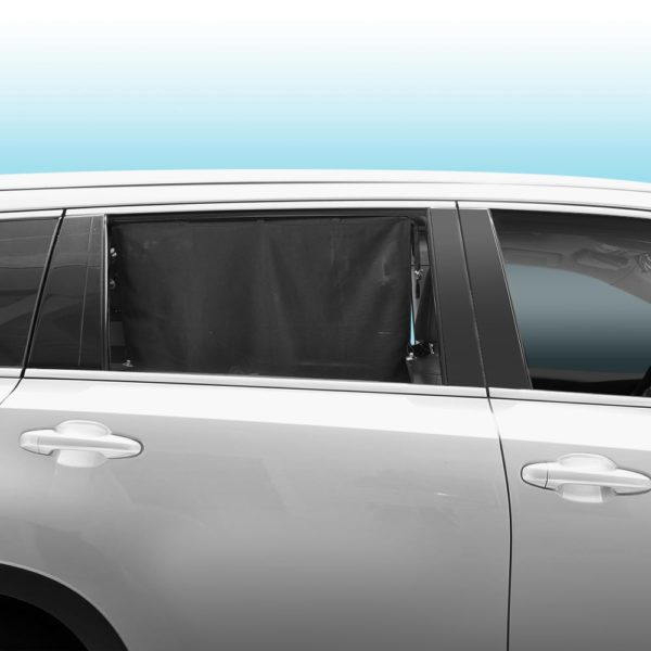 Car Side Window Sun Shade - Universal Reversible Magnetic Curtain for Baby and Kids with Sun Protection Block Damage from Direct Bright Sunlight, and Heat - 1 Piece of Rear Black Mesh