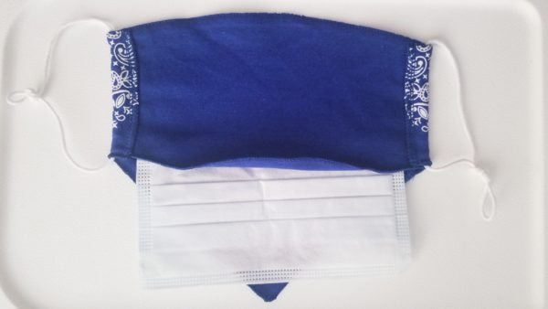 USA Fashion Bandana Print Cotton Poly Face Mask Reusable Washable Mouth Protect Cover with Filter Pocket
