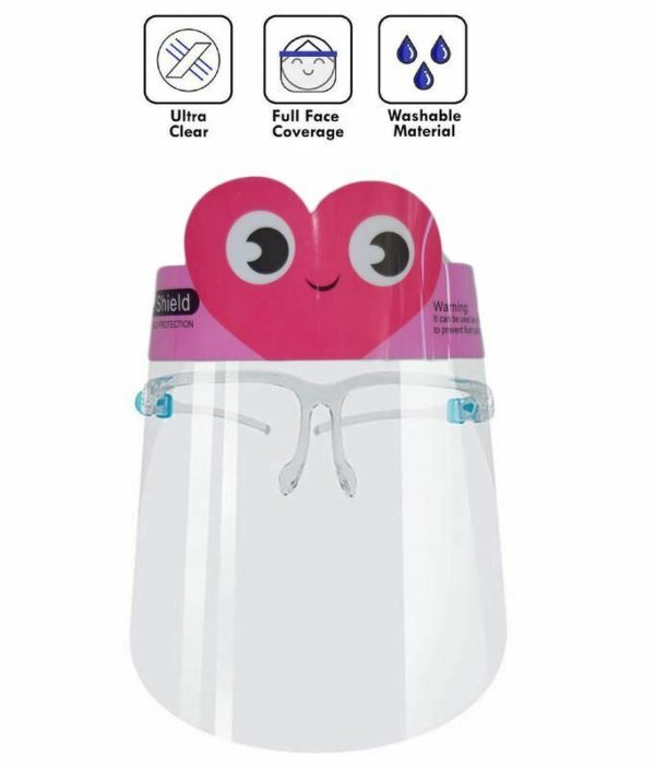 2 pack Kid Face Shield