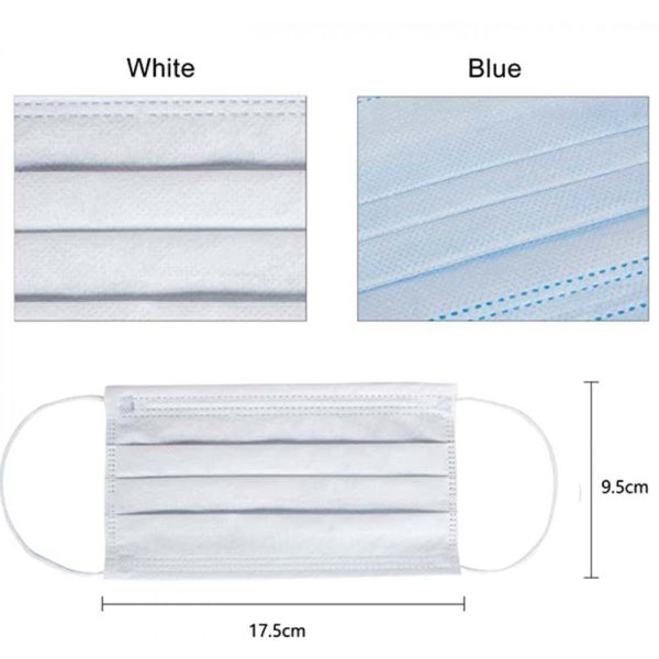 SG Disposable Protective Face Mask 3-Ply with Far Loop Blue Color (50 Pcs)