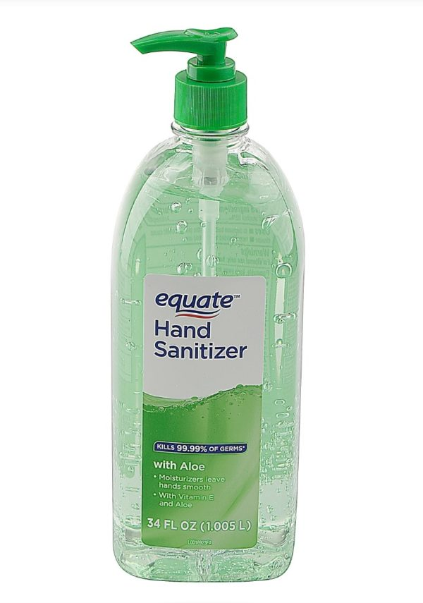 Equate 100% Original Brand Hand Sanitizer with Aloe, 34 fl oz Big Size Made in USA