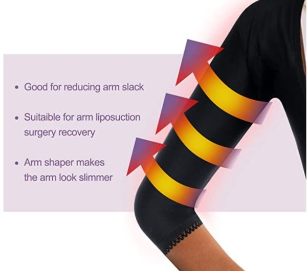 Women Upper Arm Shaper Body Compression Sleeves Post Surgical Slimmer Humpback Posture Corrector Tops Shapewear