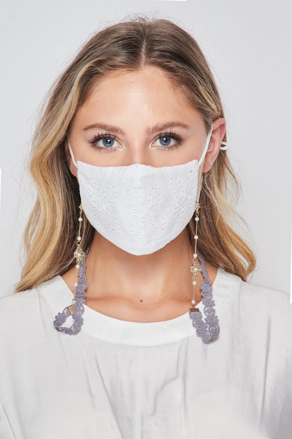 Lace Mask Chain Jewelry I Glasses Chain I Mask Necklace I Mask Chain Holder I Mask Holder Strap I Mask Lanyard with Beads and Charms