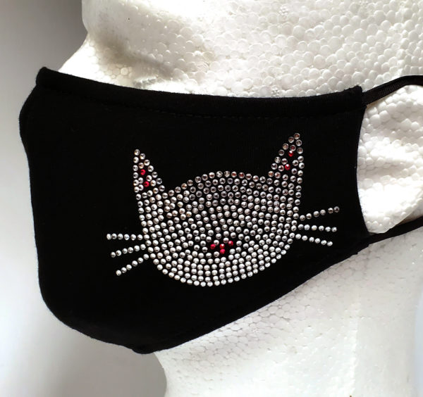 Rhinestone Mask, Fashion Mask, Face Masks, Fabric Mask Washable Cotton Mask (Hello Kitty)