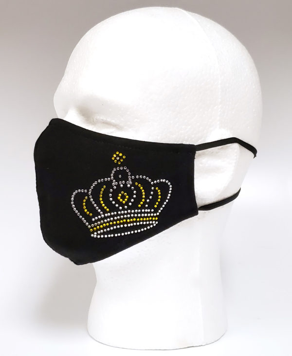 Rhinestone Mask, Fashion Mask, Face Masks, Fabric Mask Washable Cotton Mask (Queen Crown)