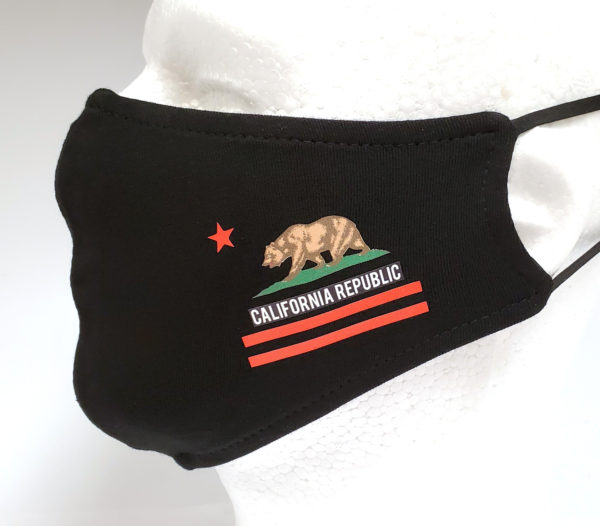 Printing Mask, Gold Mask, Fashion Mask, Face Masks, Fabric Mask Washable Cotton Mask (California Republic)