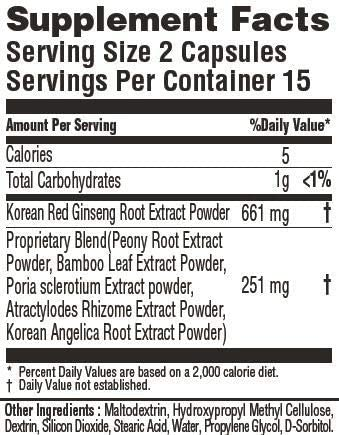 KoreSelect Balance Menopause Relief for Women. Natural Korean Red Panax Ginseng Supplements with Peony and Bamboo Blend Helps Manage Mood Swings, Anxiety, Memory, and Hot Flashes - 30 Vegan Capsules