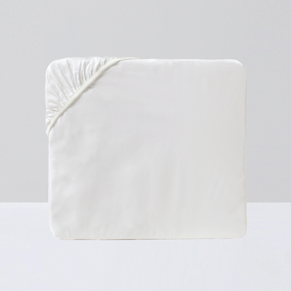 Crown Goose Fitted Sheet - White