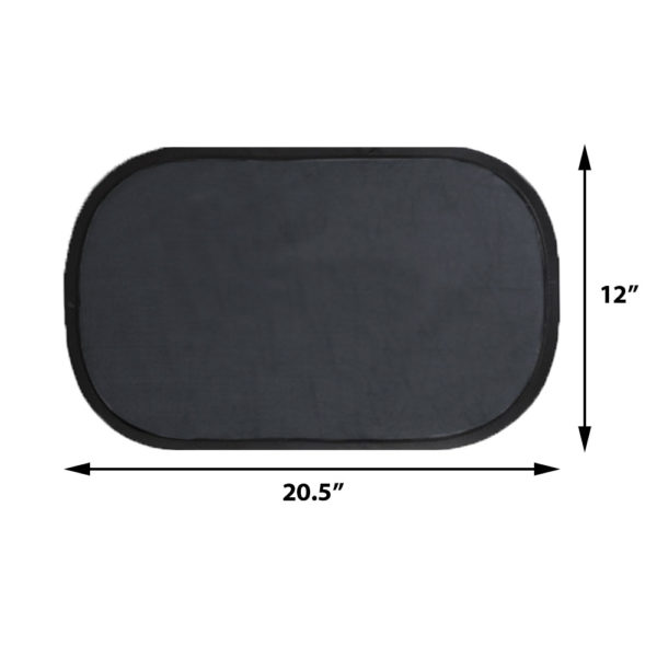 Car Side Window Sun Shade - Universal Cling Sunshade Sun Protection for Any Windows for Men, Women, Baby and Child Block Damage from Direct Sunlight and Heat - 2 Dark and 2 Light