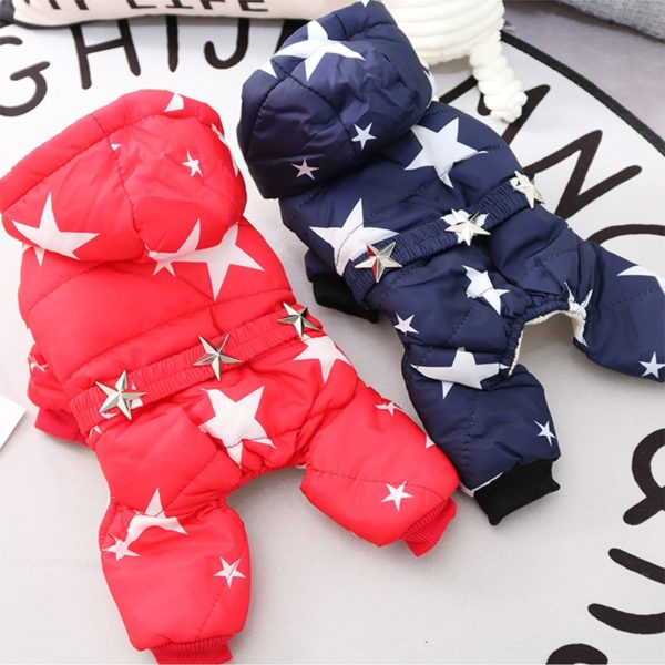 All Stars Winter Warm Dog Clothes Waterproof Pet Coat Jacket Chihuahua Yorkshire Clothes for Dogs
