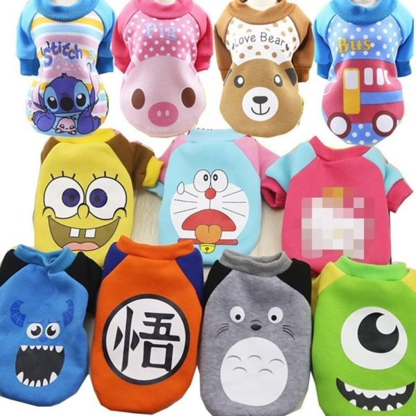 Cartoon Cheap Dog Clothes For Small Dogs Winter French Bulldog Coat Dog Halloween Costume Chihuahua Puppy Hoodies Pet Clothes