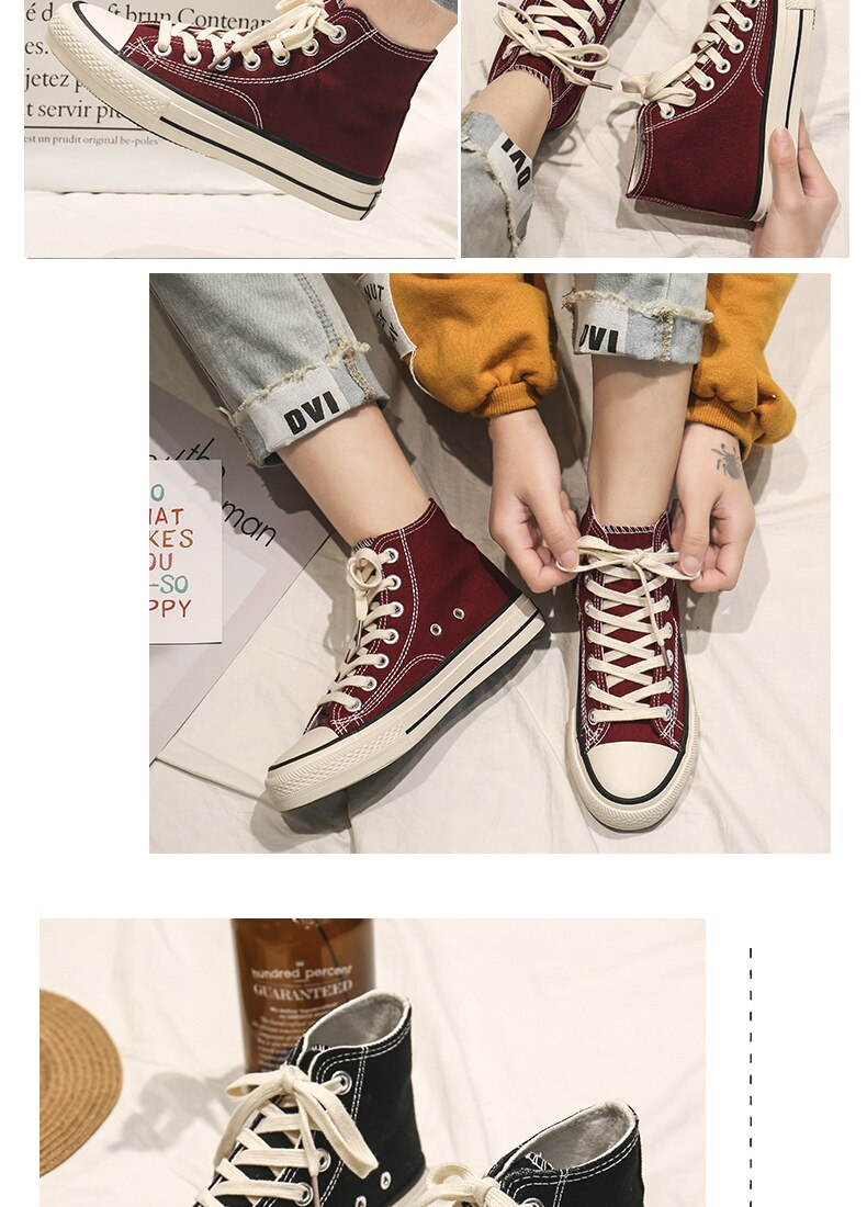Women Canvas Shoes men Fashion Summer Casual Sneakers High Top Women Shoes Students Vulcanize Shoes Flats 2020 Spring Summer