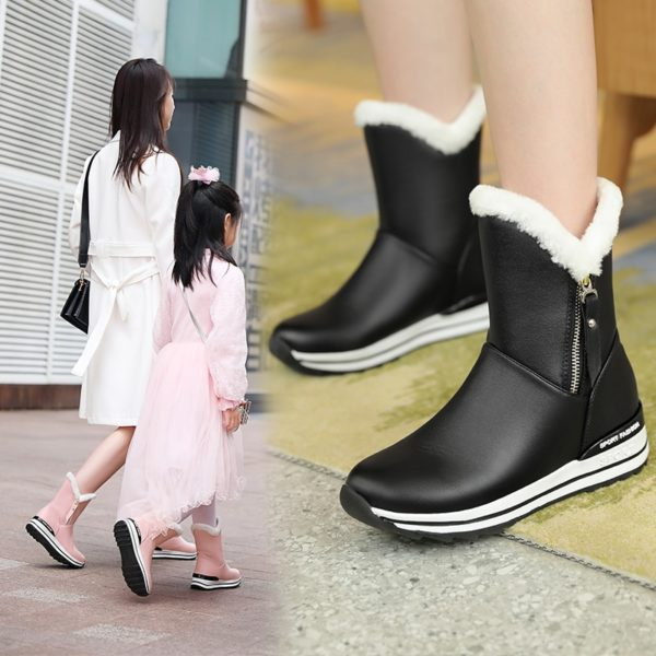 INS Women Ankle Boots 22-26cm Thick Snow Boots Ankle Boots for Women Winter Boots Women Outdoor Warm Shoes Ankle Boots for Women