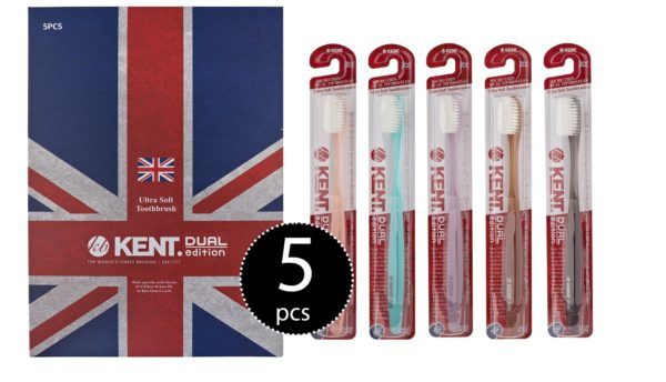 Kent Crystal Finest Soft Toothbrushes Pack of 5
