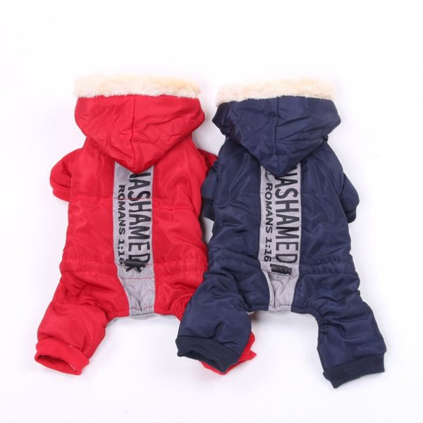 New Dog Cat Warm Jumpsuit Hoodie Windbreak Apparel Pet Puppy Coat Jacket Outfit for Dogs Cats Small Medium