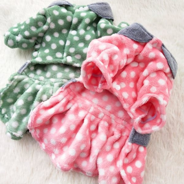 Winter Dog Dress Cat Puppy Dog Clothes Pet Dresses Fleece Warm Dog Clothing Chihuahua Yorkie Yorkshire Pomeranian Schnauzer Coat