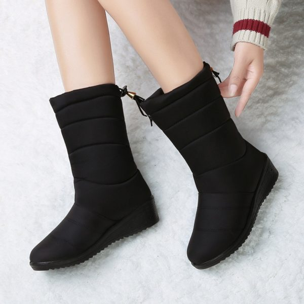 Winter Women Boots Ankle Boots Down Snow Boots Waterproof Tassel Winter Shoes Women Warm Fur Black Boots Female Botas Mujer