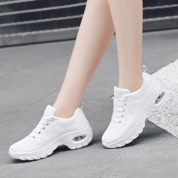 Women Shoes New Spring Casual Flat Soft Ladies Loafers Zapatos De Mujer 2020 Air Cushion Non Slip Damping Chunky Black Sneakers