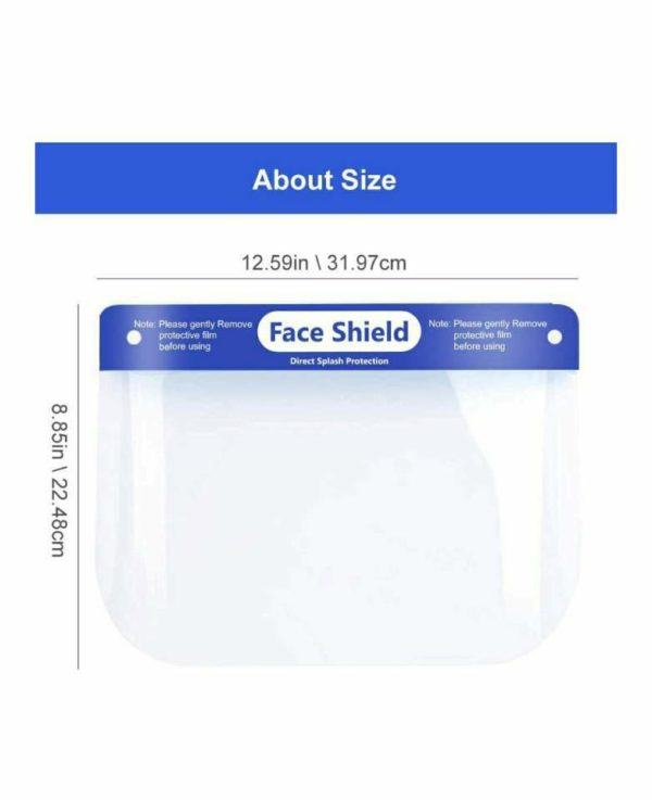 5 pcs Safety Face Shield Reusable Protective Shield Cover Visor Anti-Saliva Double-Sided Anti-fog Dust-proof Windproof Full Face CoverBand Elastic Face Shield Individual Polybag