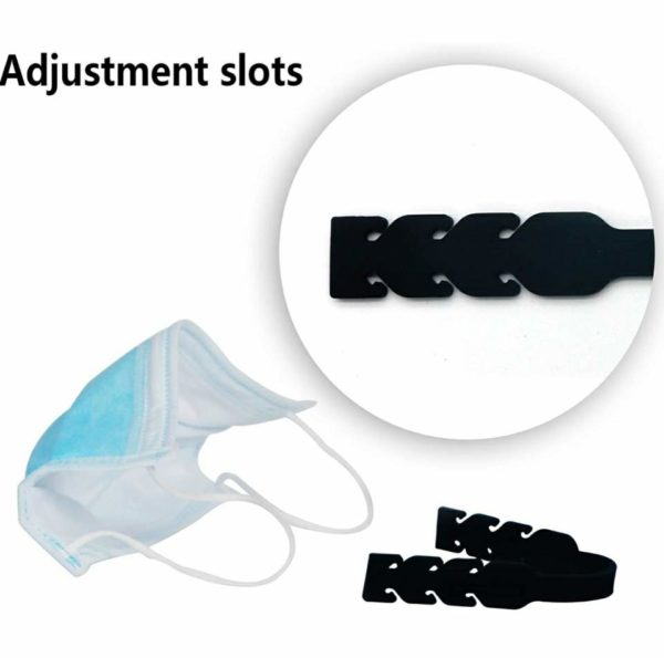 Face Mask Ear Saver Protector Strap Extender Hook Extension Silicone 6 Pieces
