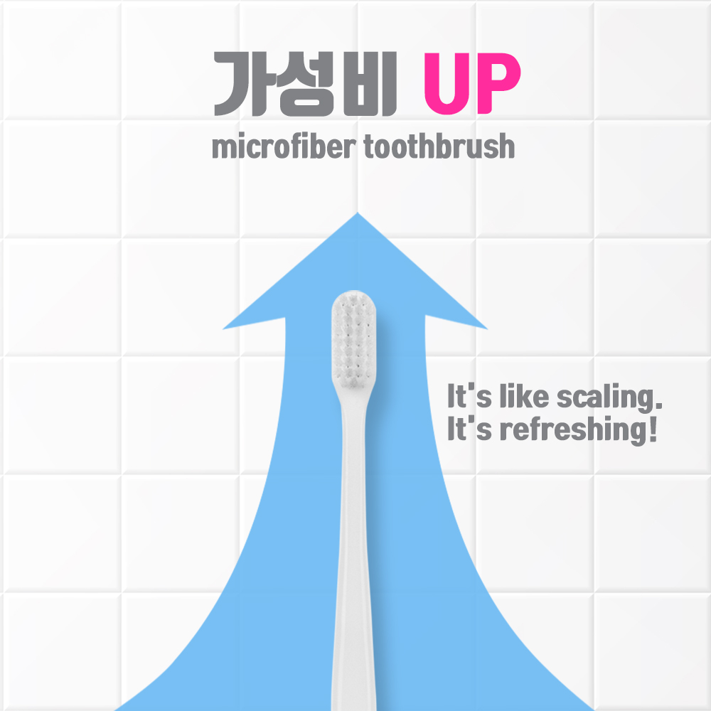 BRUSHLINE - Pack of 8 Ultra Soft Toothbrush with Micro Thin Tapered Bristle - Made in Korea (4 Colors)