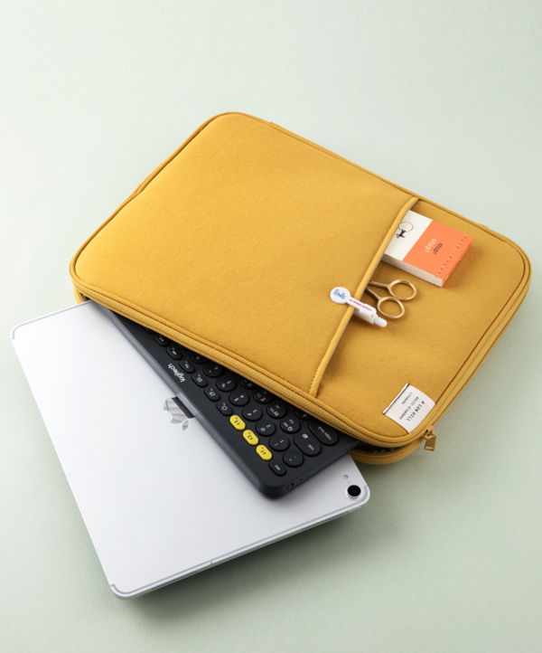 """13"""" Laptop Case for iPad Pro 12.9"""" Pouch MacBook Air 13 inch Chromebook Sleeve with Mesh Pocket"""