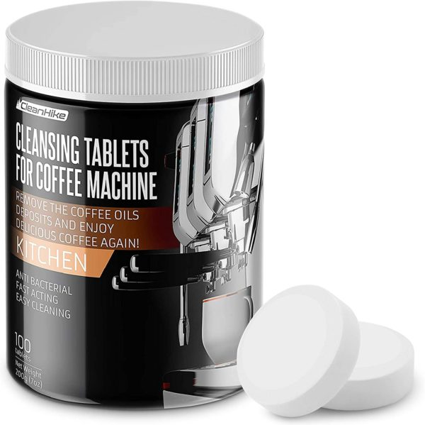Espresso Machine Cleaning Tablets – (100 Tablets) For Breville, Jura, Miele, And Universal Coffee Machine For All Brands – Professional Coffee Grease And Residue Cleaner For Baristas