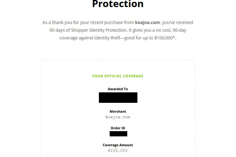 Identity Protection for up to $100,000