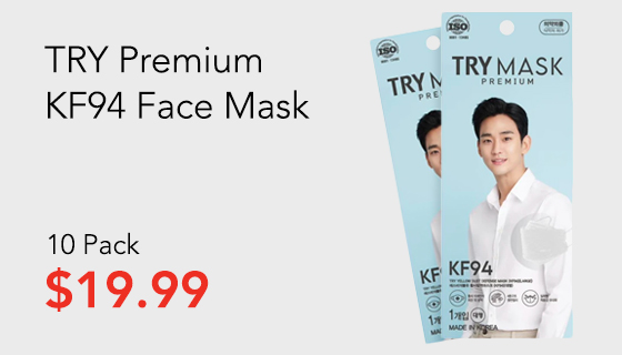 Try Premium KF94 Face Mask 10 Pack
